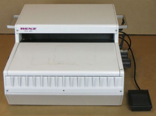 Renz DTP 340M Desk Hole Punching Machine + Punching Die 2:1,Ø=6,0mm +3:1,Ø=4,0mm